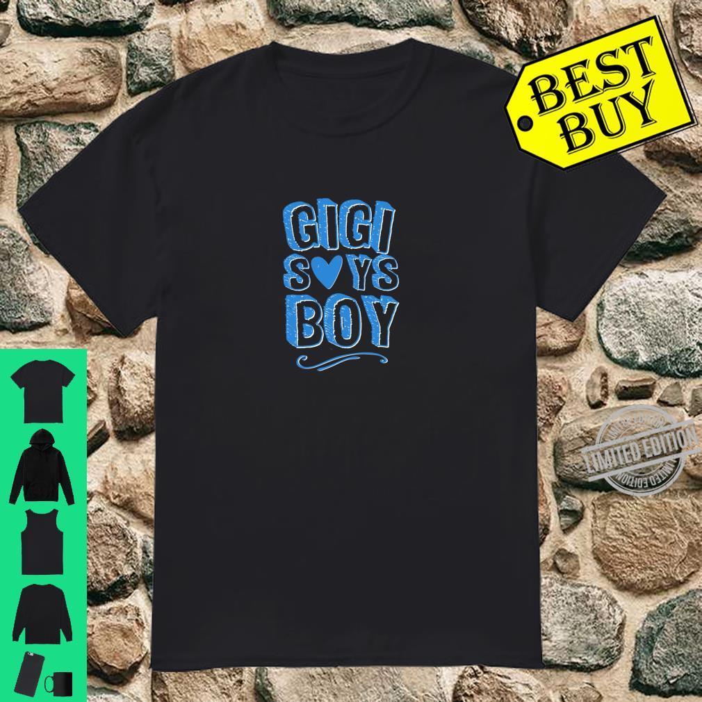 Gigi Grandma Says Boy Gender Reveal Announcement Matching Shirt