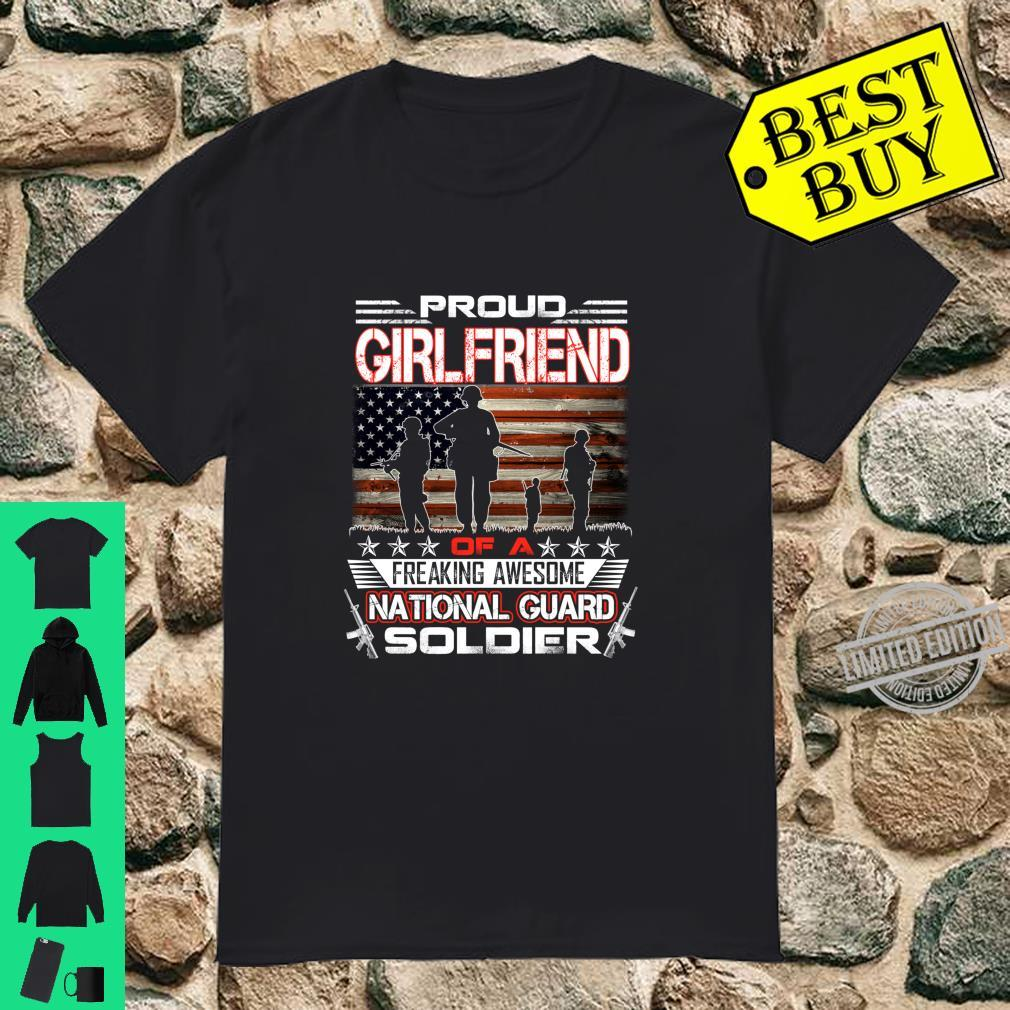 Proud Girlfriend of National Guard Soldier Military Sibling Shirt