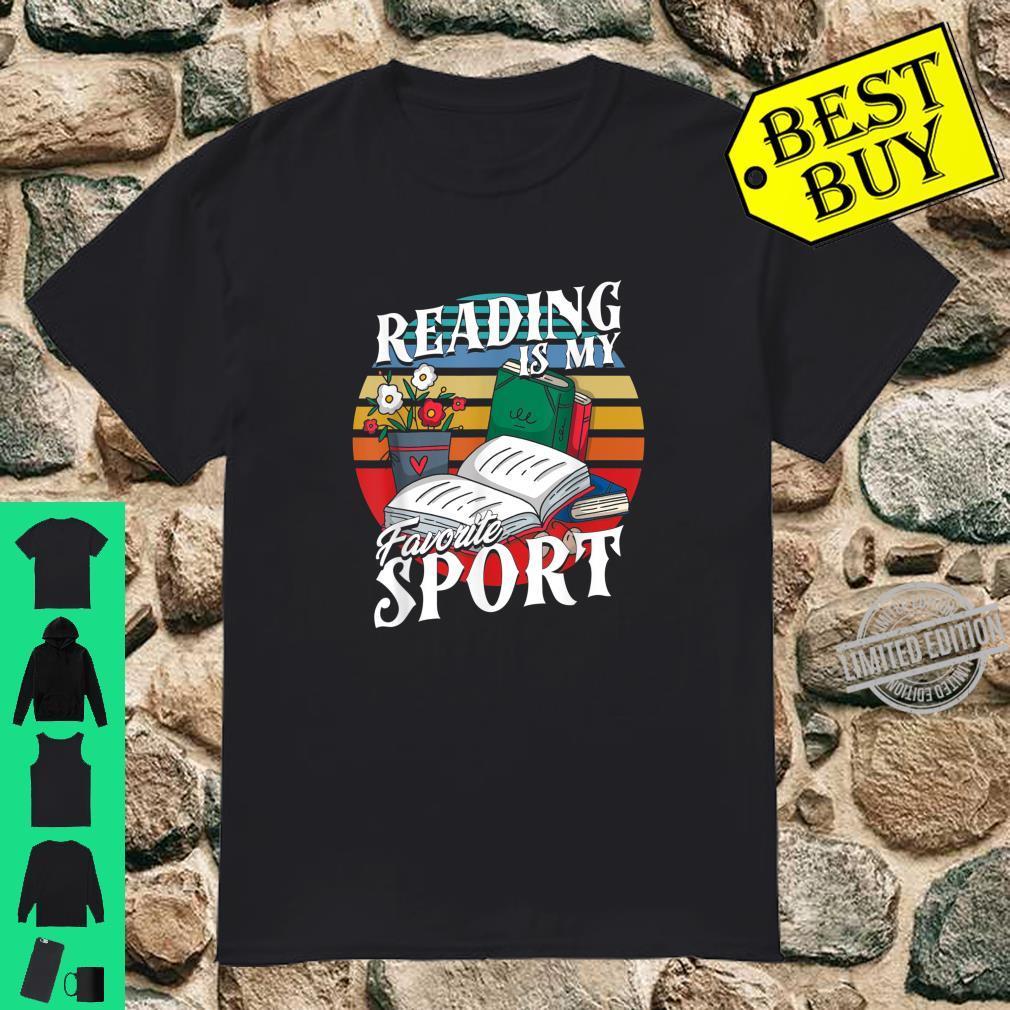 Retro Bibliophile Book Bookworm Nerd Reading Is Sport Shirt