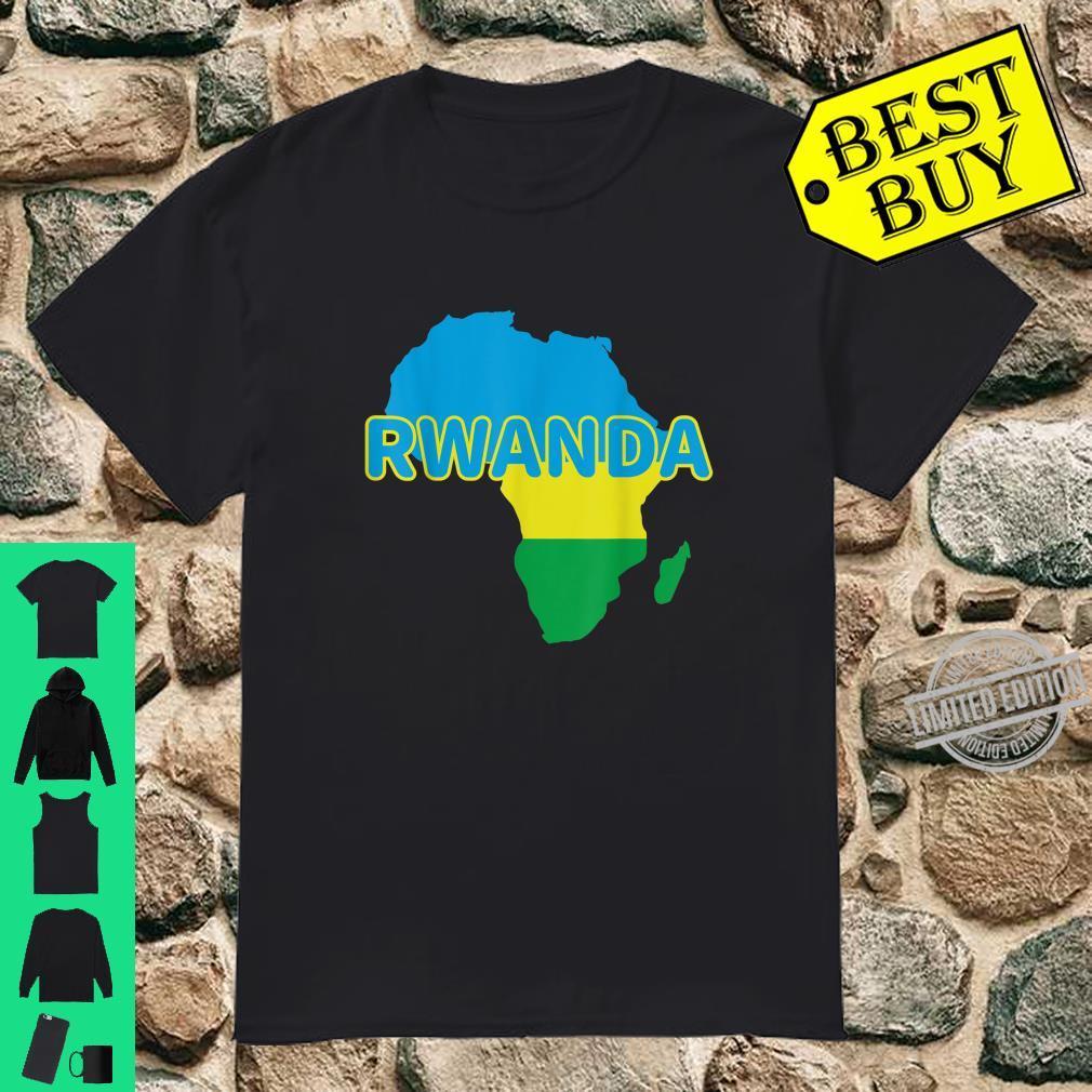 Rwanda Rwandan Rwandese Pride Flag Map Africa Print Shirt