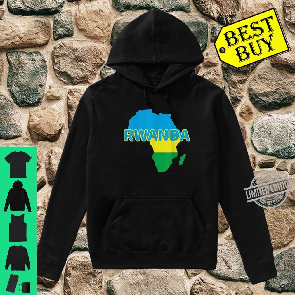 Rwanda Rwandan Rwandese Pride Flag Map Africa Print Shirt hoodie