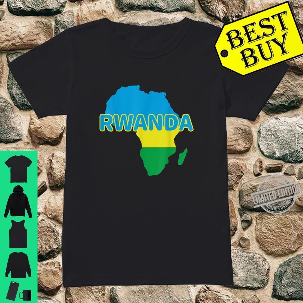 Rwanda Rwandan Rwandese Pride Flag Map Africa Print Shirt ladies tee