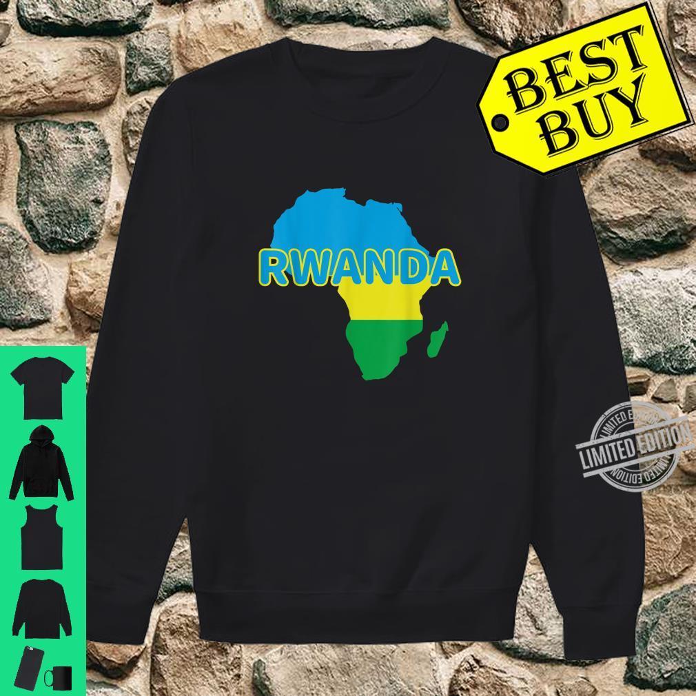 Rwanda Rwandan Rwandese Pride Flag Map Africa Print Shirt sweater