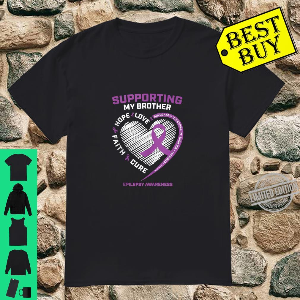 Sister I Wear Purple For My Brother Epilepsy Awareness Shirt
