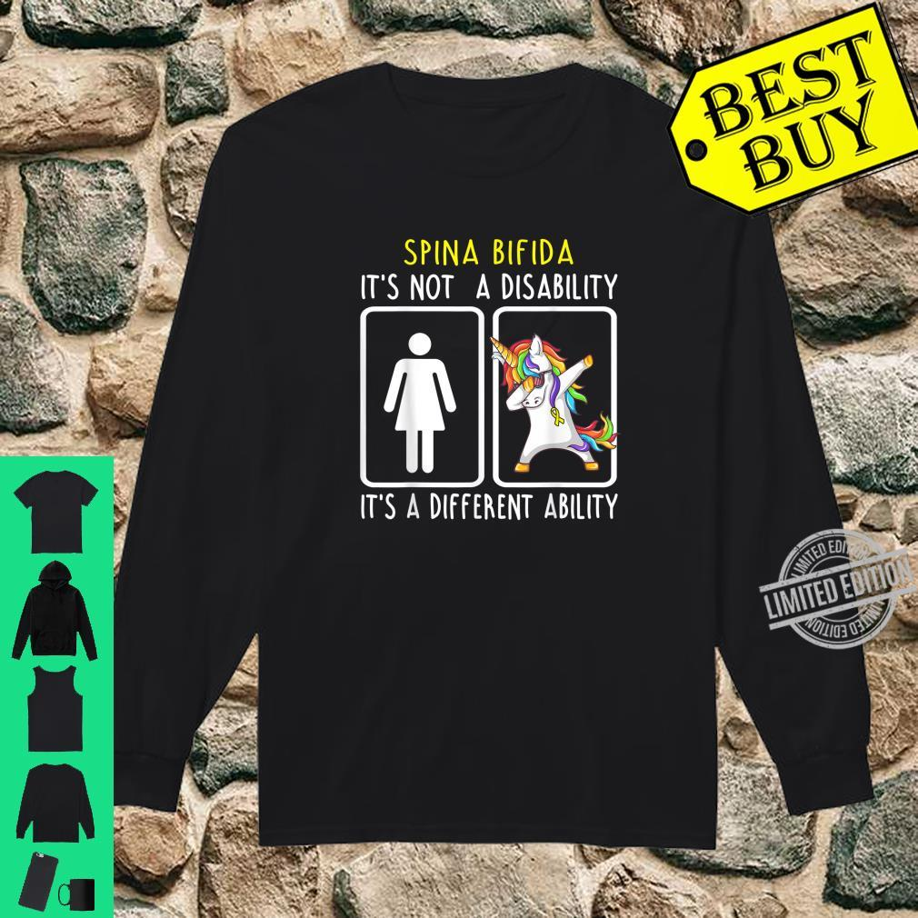 Spina Bifida It's Not A Disability Support Spina Bifida Shirt long sleeved