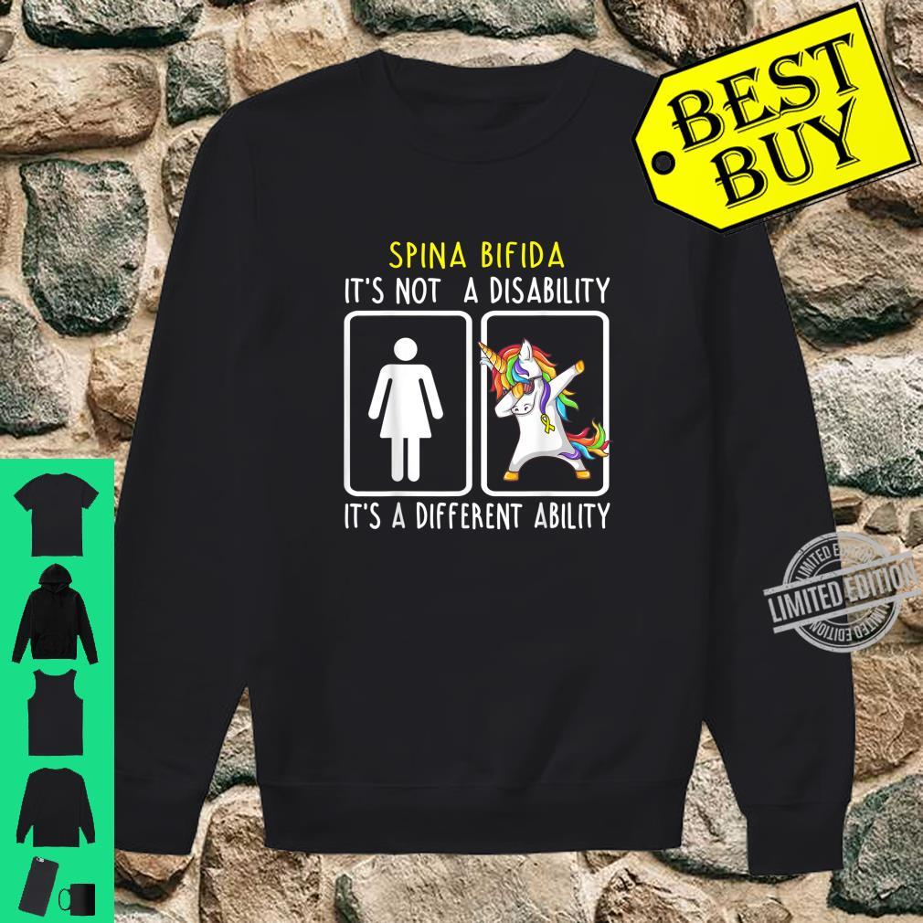 Spina Bifida It's Not A Disability Support Spina Bifida Shirt sweater