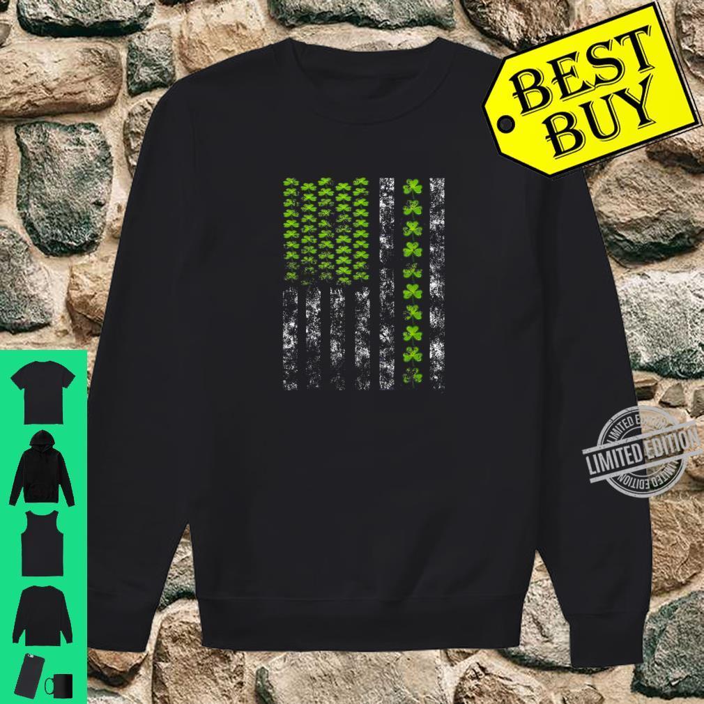 St. Patrick's Day IRISH VINTAGE AMERICAN FLAG Shirt sweater