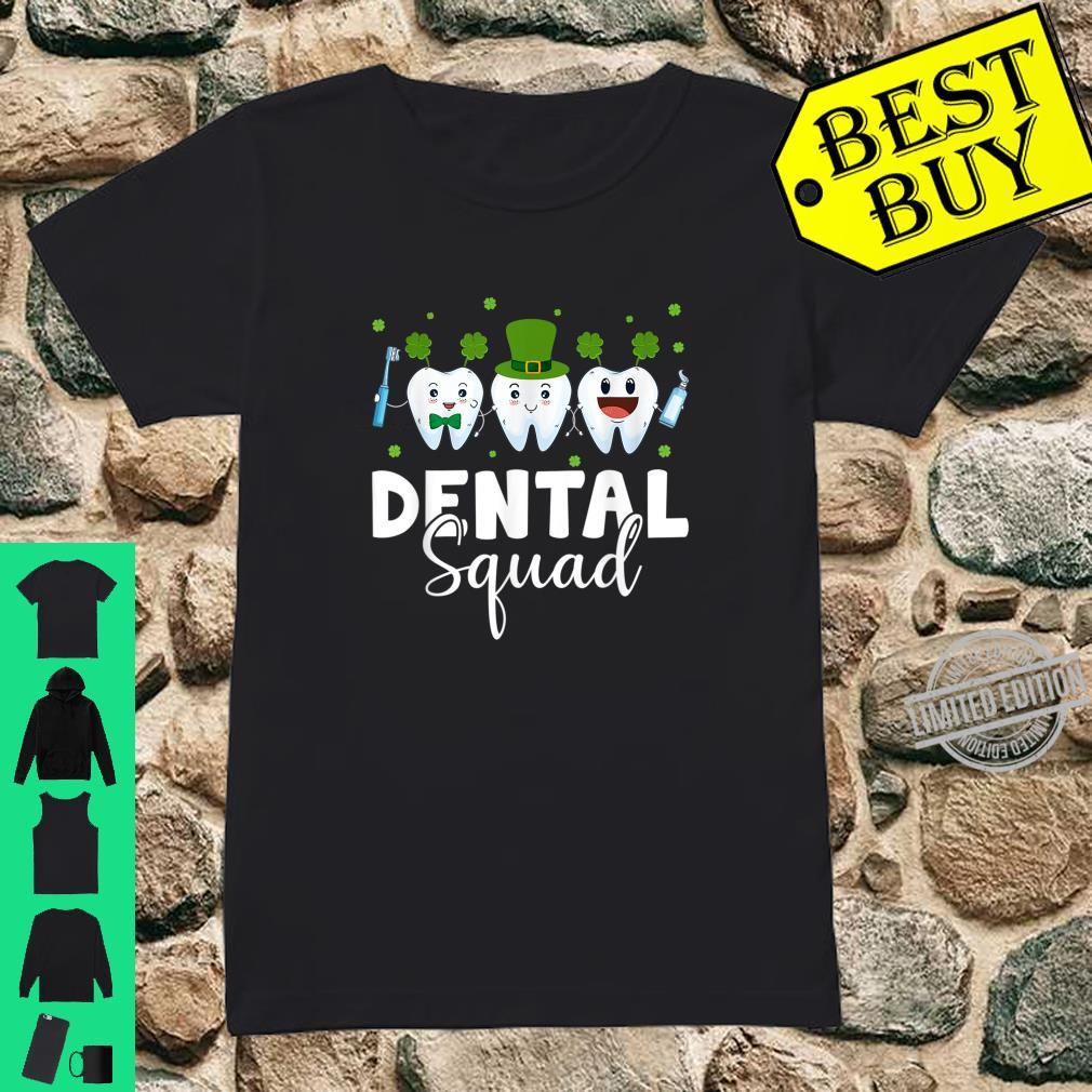 Tooth Leprechaun Hat Dental Squad St Patrick's Day Shirt ladies tee