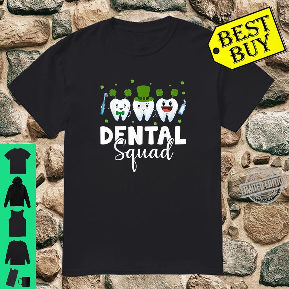 Tooth Leprechaun Hat Dental Squad St Patrick's Day Shirt