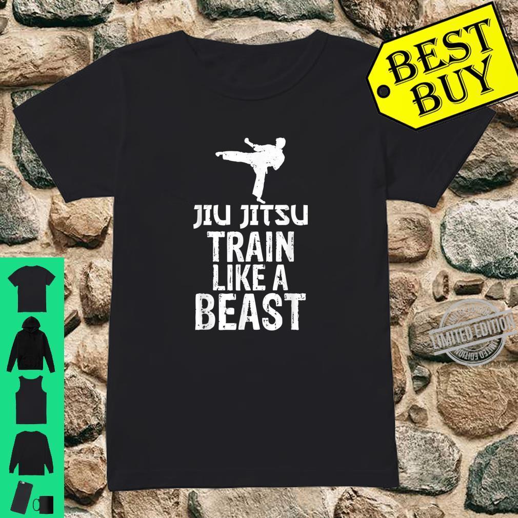 Train Like a Beast BJJ Jiu Jitsu Trainer & Coach Shirt ladies tee