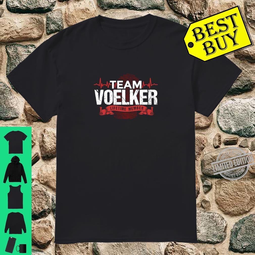 VOELKER Family Reunions Member DNA Heartbeat Shirt