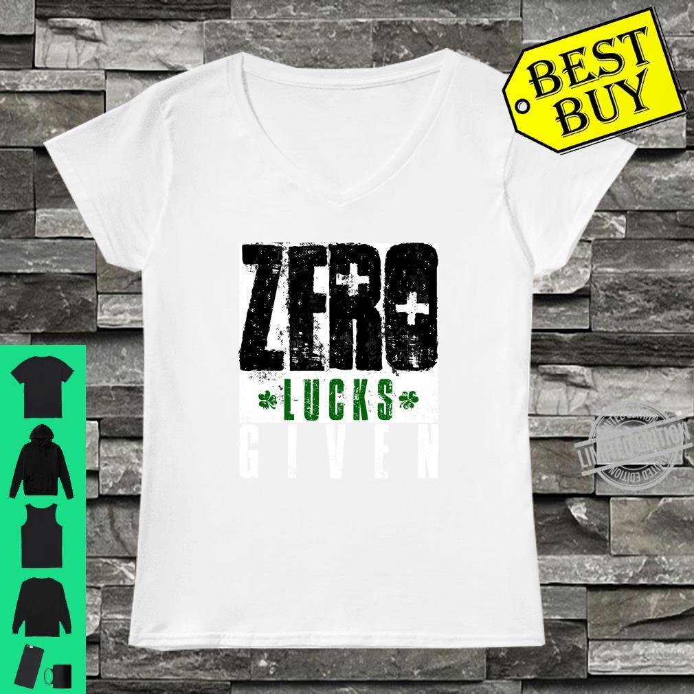 Zero Lucks Given Saint Patrick's Day Lucky Irish Shirt ladies tee