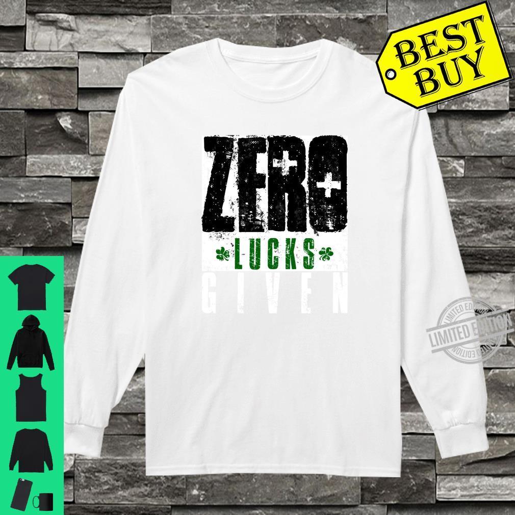 Zero Lucks Given Saint Patrick's Day Lucky Irish Shirt long sleeved